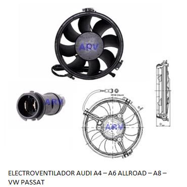 Electroventilador Audi A4 - A6 Allroad - A8 - VW Passat TDI