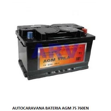 batería AGM 75A 760EN autocaravana